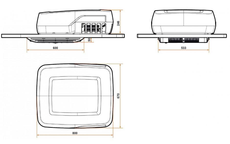 Plein-Aircon SW012T08 - Dimensiones del producto