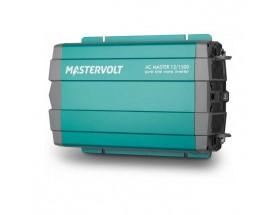 28011500 Convertidor de corriente continua a corriente alterna AC Master 12/1500, vista en perspectiva lateral de la parte frontal