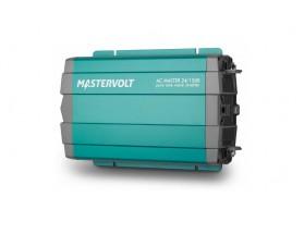 28021500 Convertidor de corriente continua a corriente alterna AC Master 24/1500, vista en perspectiva lateral de la parte frontal