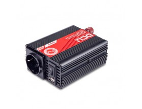 Inversor 24V/230V, 300W, onda sinusoidal modificada, soft-start. TUV.