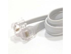 Cable de comunicaciones/sincronización con conectores RJ12, 6 metros