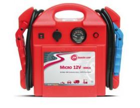 861002 Arrancador de baterías Micro 12V 800CA. Cargador para uso en baterías de vehículos utilitarios